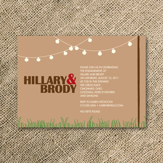 Items similar to garden party invitation wedding for Etsy engagement party invites