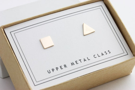 Square Triangle Mixers Earrings