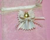 Angel Pin, Pasta Macaroni Angel pin, jewelry, ornament