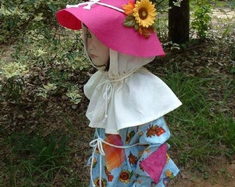 """C160   Ready To Ship in 1 Week   Adorable """"Sunflower""""  Scarecrow Halloween Costume  Child's 4"""