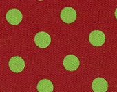 Fabric Finders Red and Lime Polka Dot - Get ready for Christmas