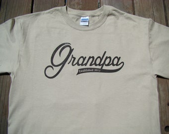 Grandpa Father's day gift - Grandpa T shirt - you pick year - Size, S-4XL- 8 color choices -  Grandpa personalized tee shirt