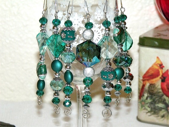 Bead Christmas Ornaments Christmas Green And Silver Icicles