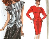 Very Easy Vogue Top and Skirt Sewing Pattern Vogue 7494 Bust 36 38 40 UNCUT