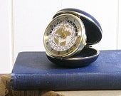 Vintage Clock Linden World Time Travel Alarm
