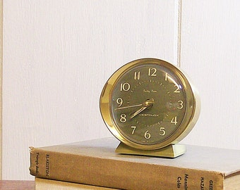 Vintage Alarm Clock Baby Ben Avocado Green