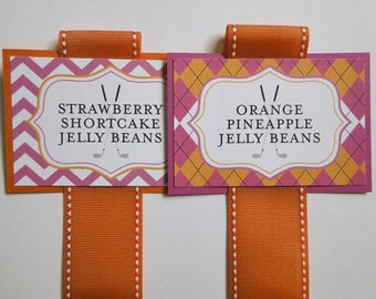 Candy Buffet Labels - Dessert Tags - Chevron Labels - Chevron Candy Buffet - Candy Labels - Argyle Labels - Food Labels