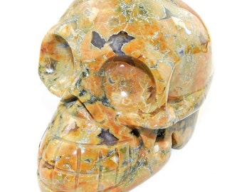 Hand carved Beautiful Ryolite Skull Carving J17B6923