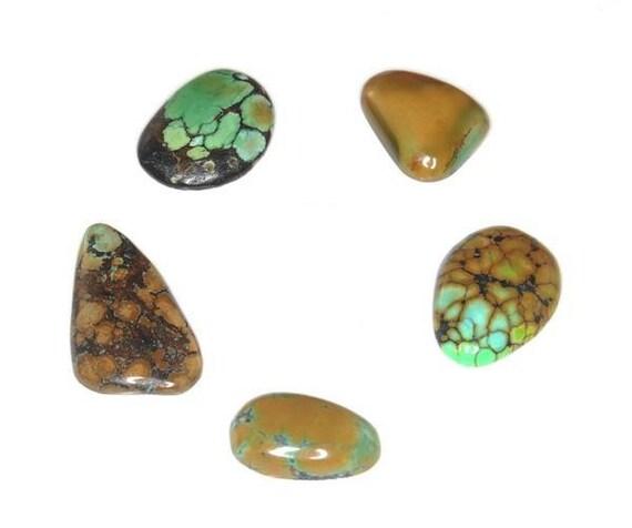 Sale 5 Pieces Natural Turquoise Cabochon J26B6966