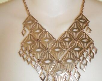 1975 Vintage Sarah Coventry Mandarin Magic Bib Necklace