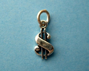 Sterling Silver Dollar Sign Petite Charm CLEARANCE