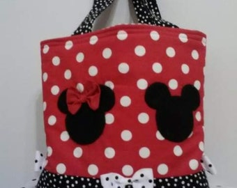 Mickey and Minnie Mouse Tote/Diaper Bag
