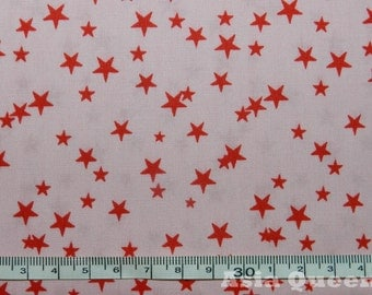 "USD8 - Cotton fabric - Stars - pink - 1 yard - star fabric, sewing fabric, clearance fabric -Check out with code ""5YEAR"" to save 20% off"