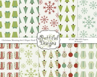 Snowflake Digital Paper Pack for Personal or Commercial Use Christmas Digital Paper