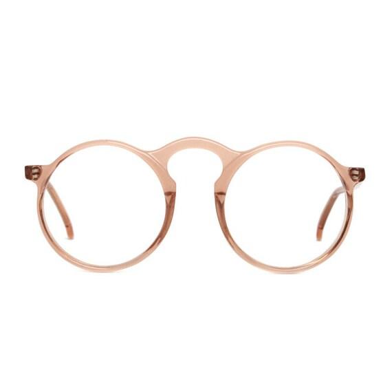 BC Society look vintage Eyeglasses - transparent brown / orange