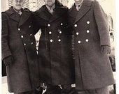 Vermont 1940s  Men in Uniform Black and White Photo