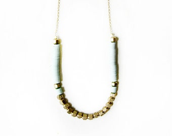 Mint brass necklace
