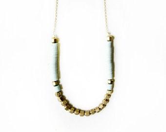 Mint brass necklace