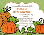 Pumpkin Patch - Little Pumpkin - Printable Party Invitation 2