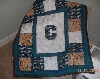 Customized Football Quilt Philadelphia Eagles