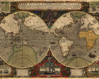 Antique World Map 1595