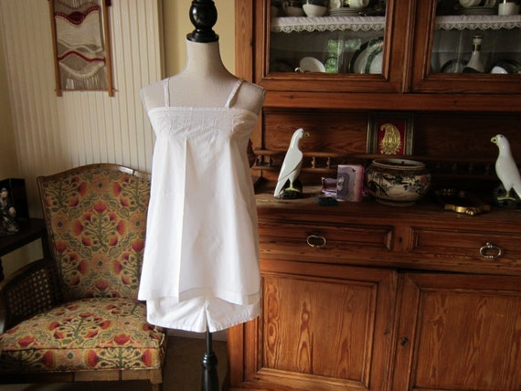 1930 French finest cotton Camisole and knicker set monogram PJ or JP
