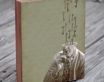 Skeleton Key - The Problem Solver - Wood Block Art Print