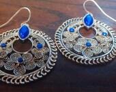 Vintage Silver Filigree Earrings
