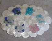 Hand Tumbled Seaglass Mix for crafting supplies- you choose colors- SEA GLASS 1lb