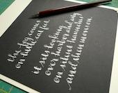 Fog Cat Quote - Custom Calligraphy Art