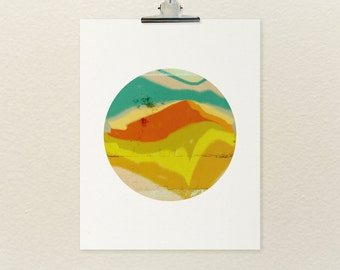 LOMO Shooter No.3 // Abstract Landscape, Modern Minimalist Art Poster Print, Colorful Art Print, Digital Print, Giclee, Wall Art