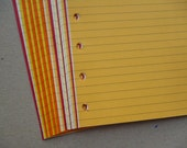 Lined Notepaper inserts - Fits Filofax or Organiser - yellow, orange and red - A5/personal/pocket/mini