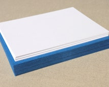 Blank Stationary Set with Blue Envelopes - Set of 20 Flat A2 Size Cards