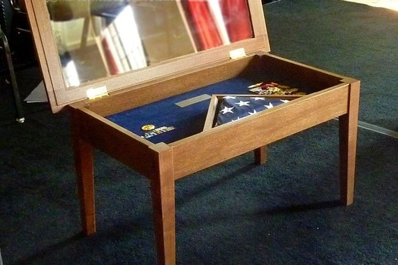 military display coffee table