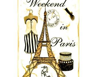 PARIS 1S- Handmade Leather Journal / Sketchbook - Travel Art