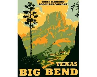 BIG BEND Texas 1S- Handmade Leather Journal / Sketchbook - Travel Art