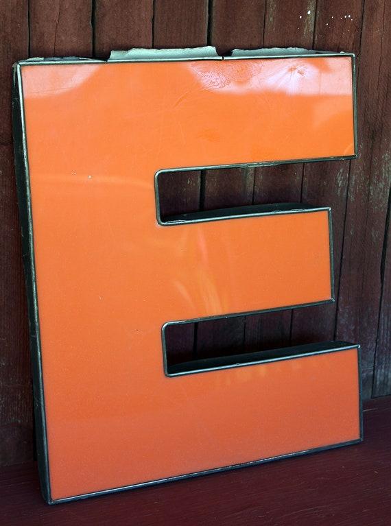 Vintage Letter E in ORANGE