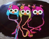 Owl Hat- hooty owl hat any color - lnk44