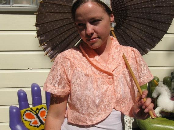 Peachy Keen 50s Lace Shrug