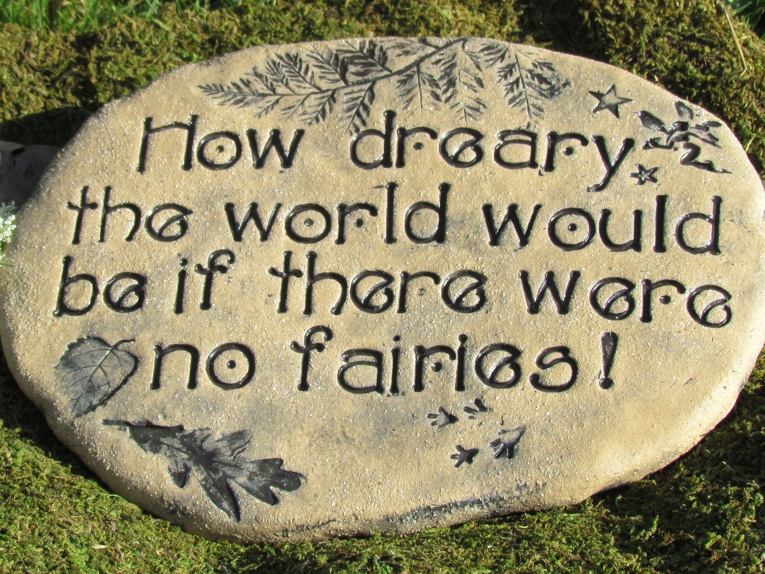 Landscape Rock Quote : Fairy garden art stone rock with quote do you by poemstones