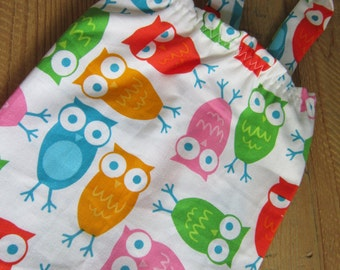 SALE Fabric Plastic Bag Holder and Dispenser - Urban Zoologie Colorful Owls