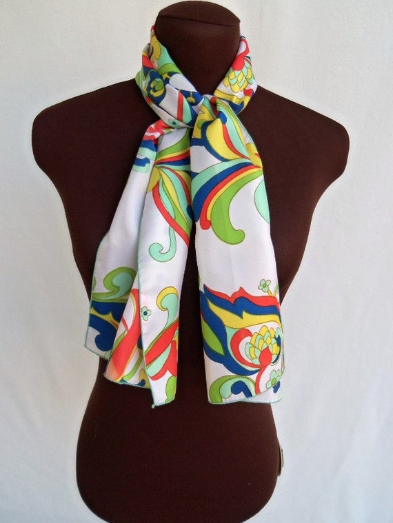 RESERVED for Nicole  Vintage 60's Scarf Mod Abstract Rectangular