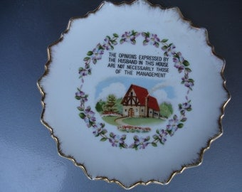 Cute and funny Vintage 1950's  Collector Plate