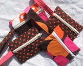 Small Zipper Pouch with Wrist Strap (3.5x4.5 inches)