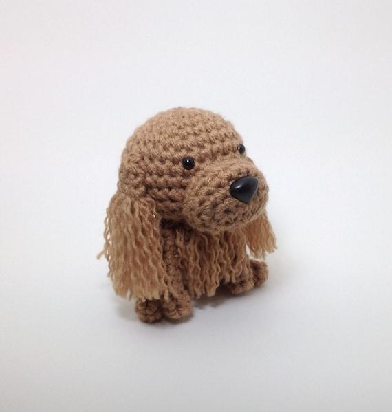 Cocker Spaniel Amigurumi Dog Buff Stuffed Animal Handmade Crochet Puppy Doggie Plush Doll / Made to Order