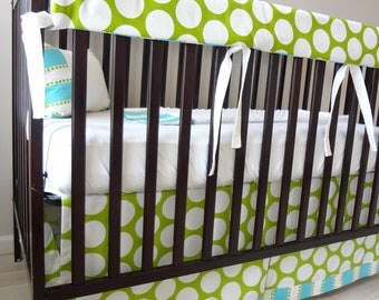 Bubble Bliss Bumperless Crib rail bedding collection