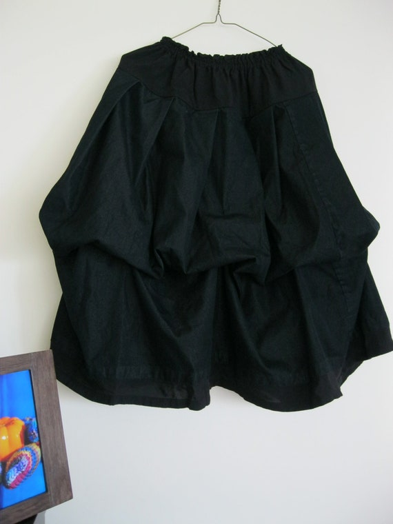 Christmas sale 20% off A-line denim black skirt: up or down
