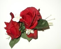 True Touch Rose Corsage, Prom Corsages,  Red Rose Corsage, Pink Rose Corsage, White Rose Corsage, Orange Rose Corsage