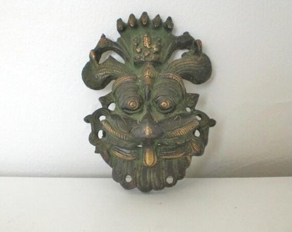 Vintage Bronze Dragon Wall Plaque Victorian