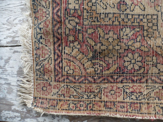Shabby Antique Persian Kerman Rug